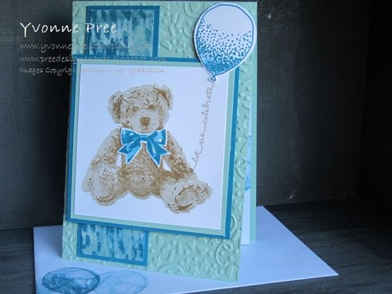 Baby Bear, Balloon Celebration, Stampin' Up!, 2016-17 Catalogue, Yvonne Pree, Pree Designs