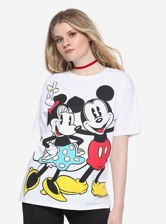 NEW 2 Set Disney Mickey and Minnie Mouse Girls Multi Sizes Long Sleeve Tshirts