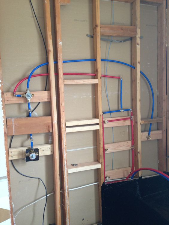 Plumbing The Shower With Pex Bathroom Remodel