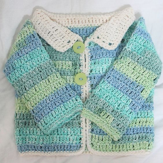 ON SALE! 12-18 Month Old Aqua Cotton Sweater by EdibleThoughts, $21.00