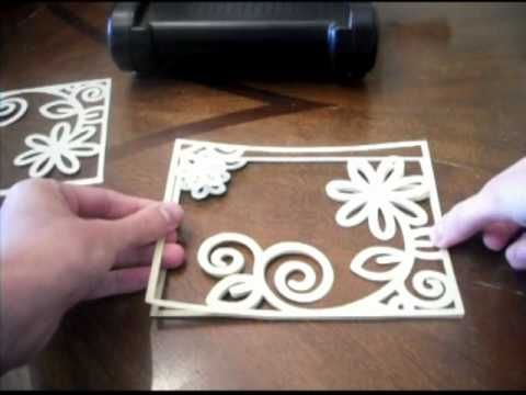 How to make your own embossing templates. This would be an excellent use for the Silhouette Cameo!