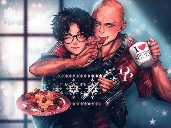 Yaoi - Spiderman and Deadpool