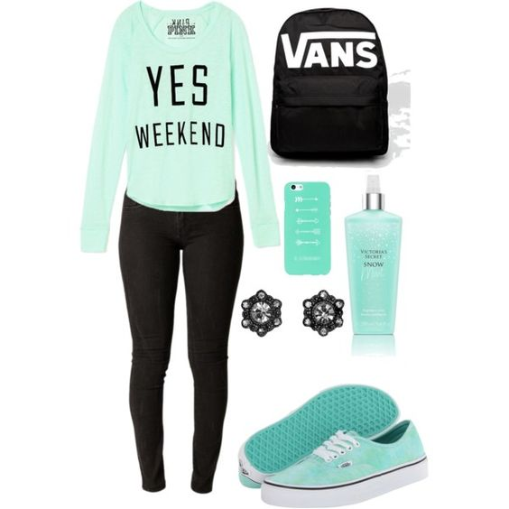 A fashion look from December 2014 featuring Victoria's Secret PINK t-shirts, Vans sneakers and Vans backpacks. Browse and shop related looks.