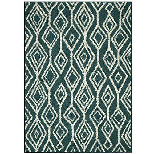 Area Rugs Maples Rugs Made In Usa Rachel 5 X 7 Non Slip Padded Large Rug For Living Room Bedroom And Dining Room Teal Maples Rugs Rugs White Area Rug