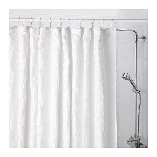 Ikea Addarn Shower Curtain White Fabric Shower Curtains