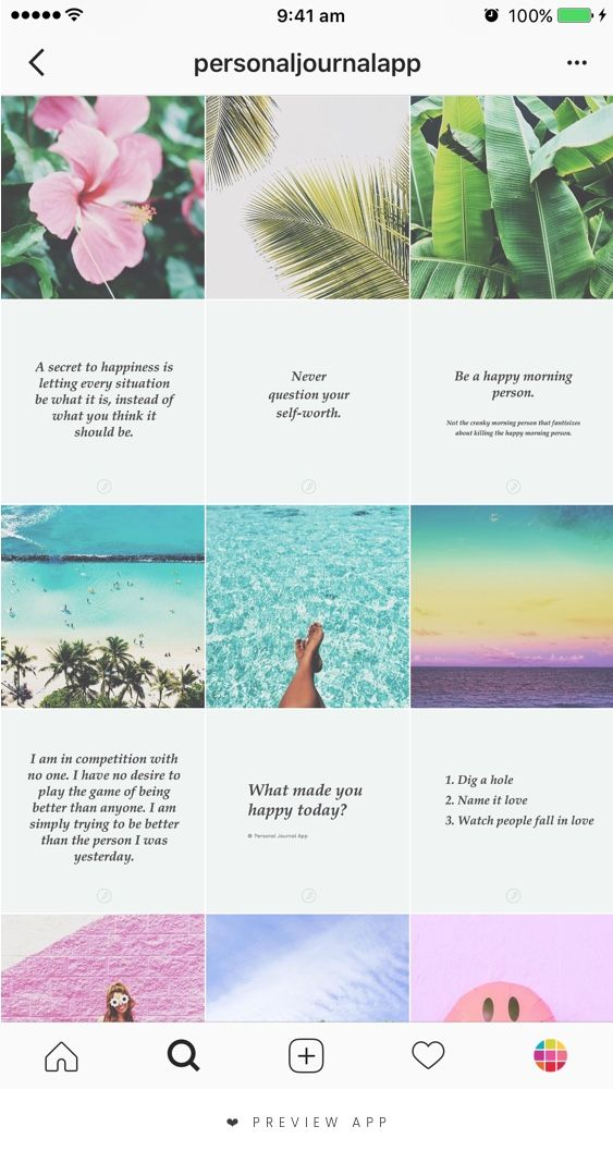 21 Instagram Theme Ideas Using Preview App Editing Tips With