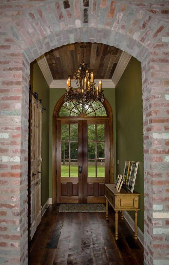 French Acadian Style Divided Lite Entry Doors | تصميمات أبواب Door ...
