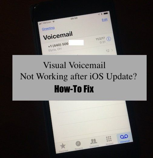 Ios Iphone Visual Voicemail Not Working How To Fix Voicemail Ios Update Fix It