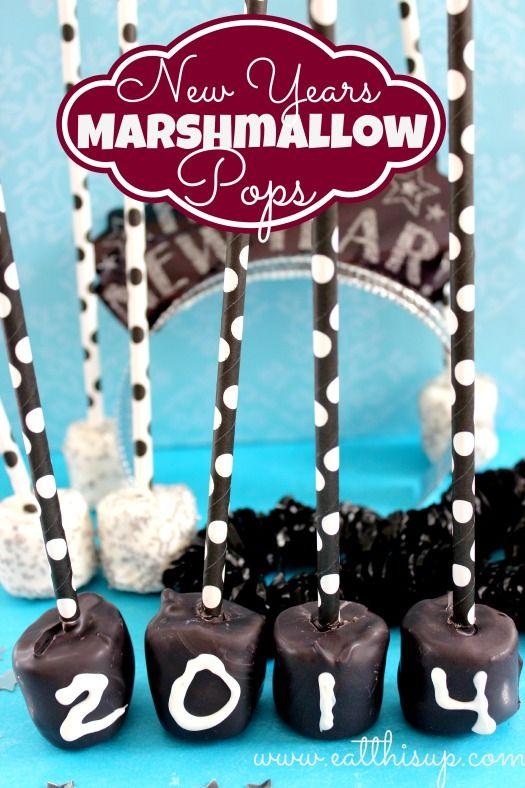 Marshmallow Pops New Years Treat - eatthisup.com.