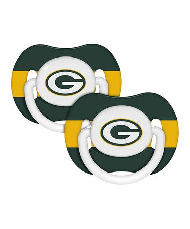 Baby Fanatic Green Bay Packers Pacifier - Set of Two | Green ...