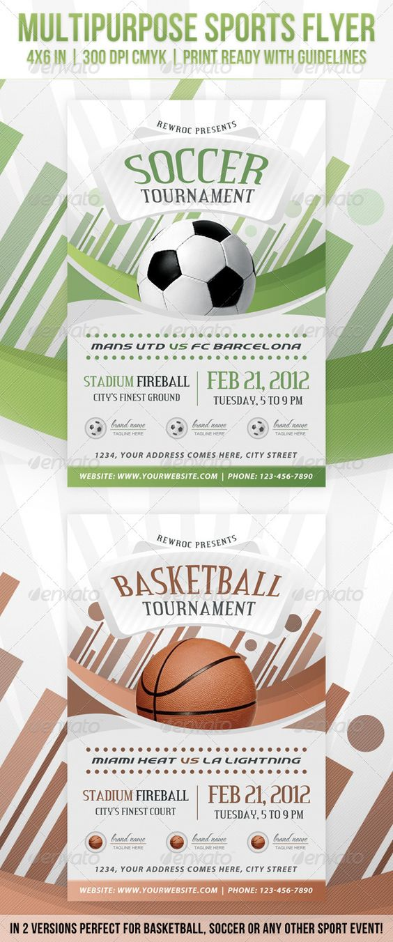 Multipurpose Sports Event Flyer #GraphicRiver Multipur