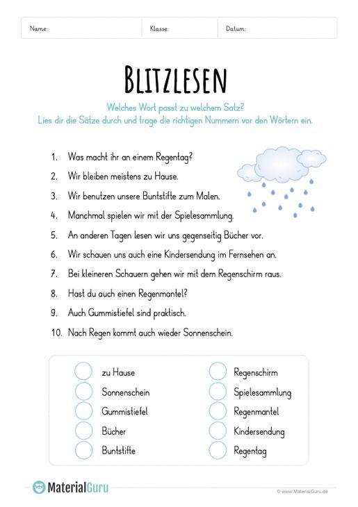 Blitzlesen Der Regen Blitzlesen Der Language Regen