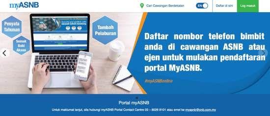 Asb Online Myasnb Cara Register Login Asnb Online