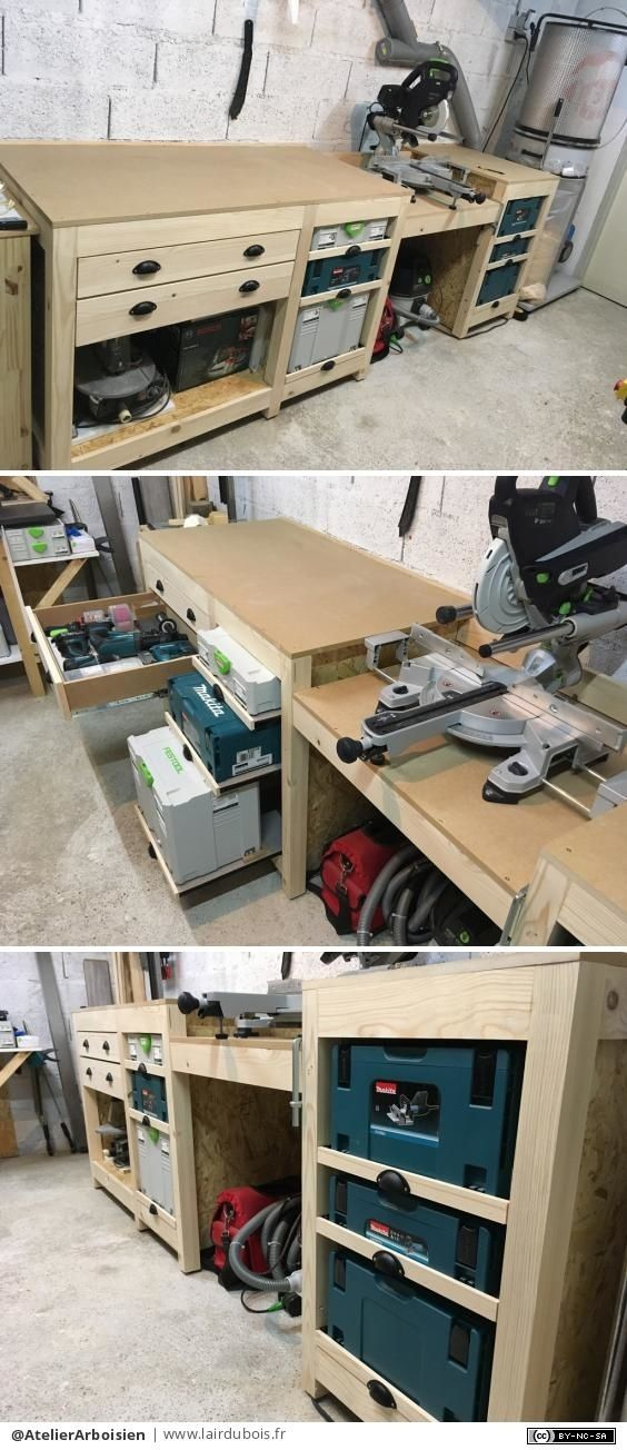 Meuble D Atelier Par Atelierarboisien Atelier Bricolage Bois Rangement Outil Atelier Rangement Atelier