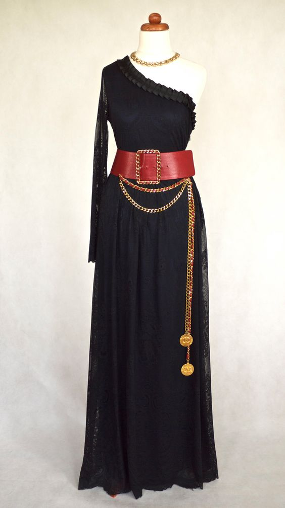 Vintage Chanel  Wide Belt Long Chain Medallions RARE. $1,750.00, via Etsy.