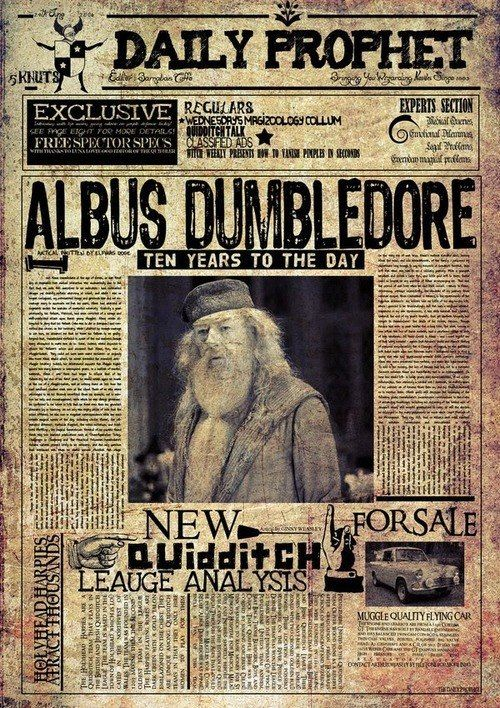 """The Daily Prophet Harry Potter Collector/'s Poster Print 11/"""" x 15.5/"""" B2G1F"""