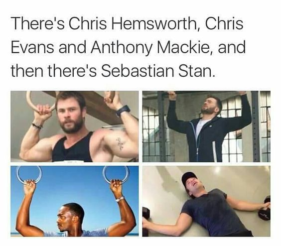 hahahah I thought Chris Evans was pretty ripped until you put it by Hemsworth