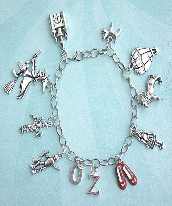 the wizard of Oz inspired charm bracelet