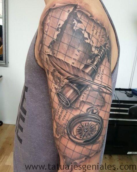 Kompasskarte Tattoos Kompasskarte Tattoos
