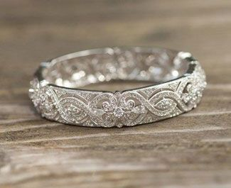 Vintage Wedding Ring To Go With Simple Diamond Enement