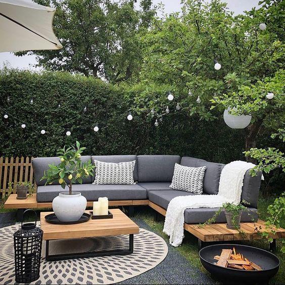 240 Modern Patio Backyard Design Ideas That Are Trendy On Pinterest Cozy Home 101 In 2020 Garden Sofa Set Garden Sofa Outdoor Patio Decor