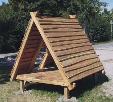 Holz-Zelt | Spielhäuser | Seibel-Spielplatzgeräte | Hinterweidenthal