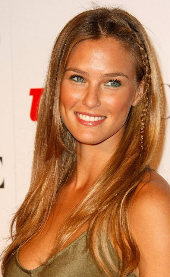 Bar Refaeli- love the hair, the teal liner underneath the eye, and the dimples!! Not to mention the glowing skin...