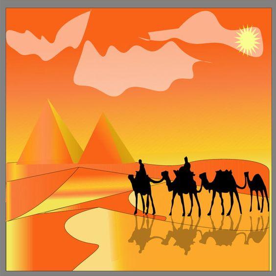 رسم المناظر الطبيعية الصحراوية في المصور من جمال في صحراء مصر 2019 جمل أفريقيا حيوان Png والمتجهات للتحميل مجانا Drawings Illustration Art