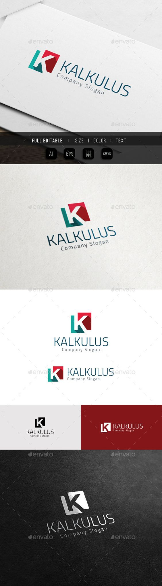Corporate Brand - Marketing Finance - K Logo - Download…