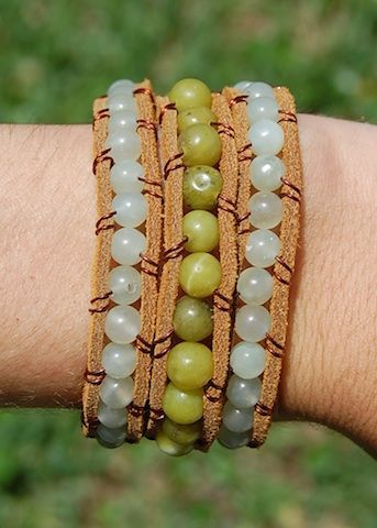 Triple Leather Jade & Green
