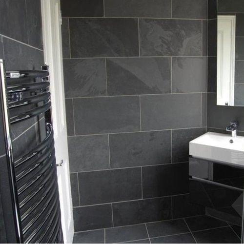 Slate Tile Brazillian Black Slate Tiles Portland Direct Tile Marble 5 000 Sf Showroom 4411 Nw Yeon Ave Slate Tile Slate Bathroom Tile Tile Bathroom