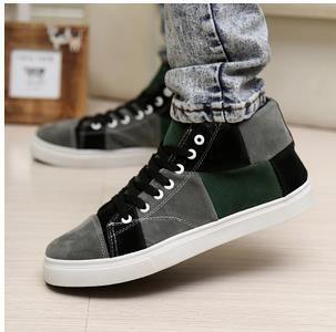 Camurça sapatos casuais masculinos sapatos moda skate sapatos de alta top em Sapato baixo de Sapatos no AliExpress.com | Alibaba Group