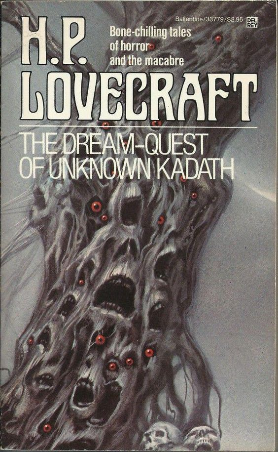 The Dream-Quest Of Unknown Kadath, by H P Lovecraft. Ballantine, 1982. Cover by Michael Whelan #80s #FridayReads