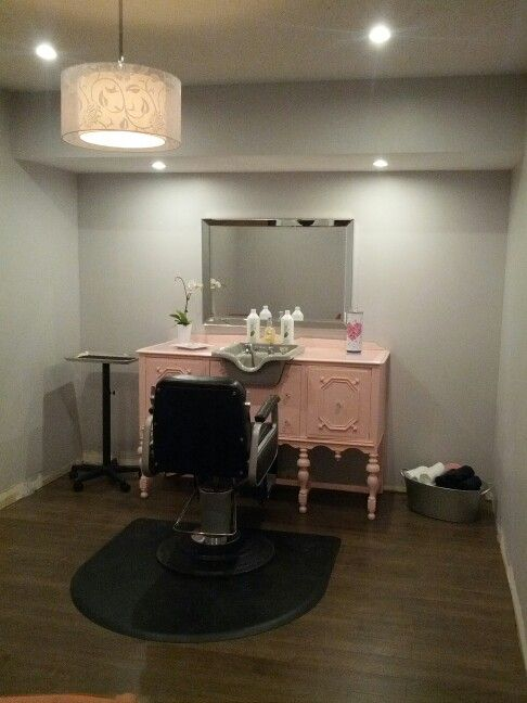 Charming My Newly Finished Home Salon. Love The Vanity/sink Part 8