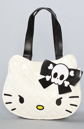 The Skull Hello Kitty Tote Bag by Loungefly