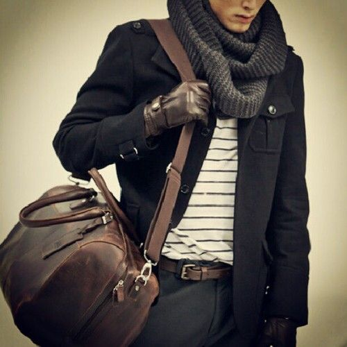 Large Vintage Travel Holdall Leather Bag #Handmadeleather #leathertravelbag: