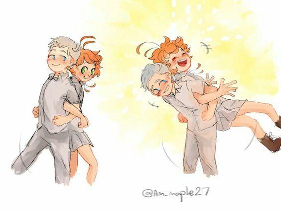 Norman X Emma The Promised Neverland Neverland Neverland Art Anime