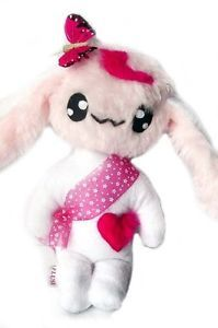 Kawaii Plush Rabbit Kuschel Hase Heidi White light PinkUnikat Handmade