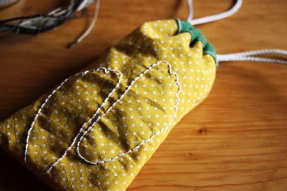 Sweet baby sock gift bag.