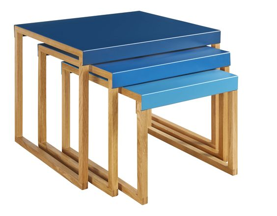 Habitat kilo tables basses bleu p trole cire home for Habitat table basse