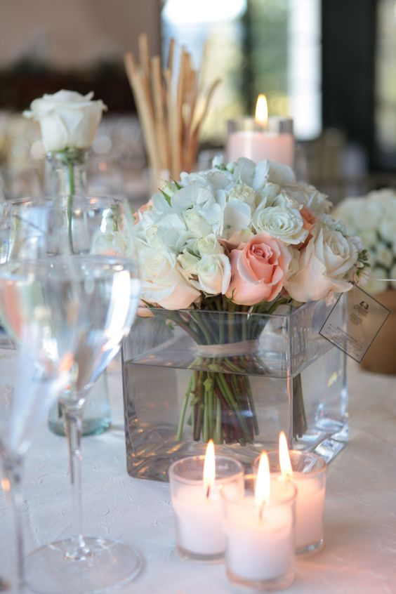 Mesas rose candle and roses on pinterest - Decoracion de mesa para bodas ...