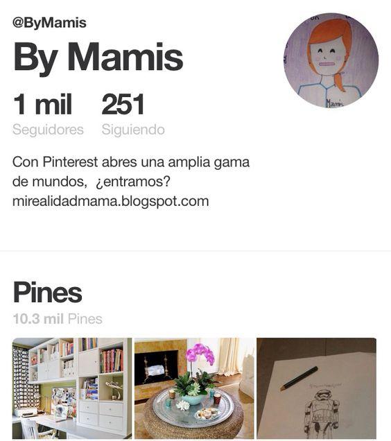 1000! we continue together, THANKS!!!!!!!   Pinterest abre un mundo de posibilidades. Es un mini ordenador con carpetas organizadas,  teniéndolas siempre a mano. Para mi San Google pasó a la historia!!!!