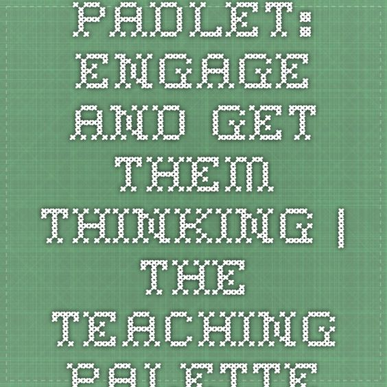 Padlet: Engage and Get Them Thinking | The Teaching Palette