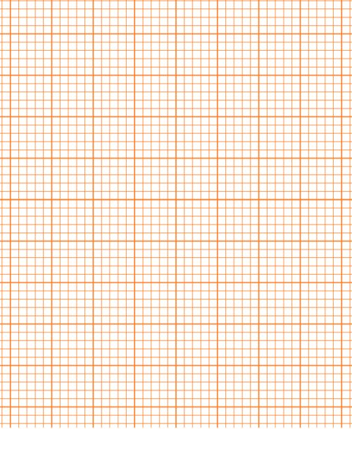 Printable Graph Paper u2013 Orange Graph paper, Math and Math charts - math graph paper