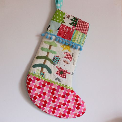 Christmas stocking santa hohoho spot foot1