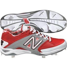 new balance baseball cleats red