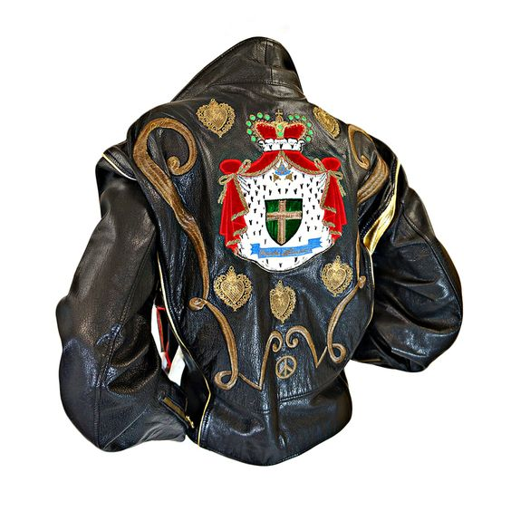WOW.  This is probably one of the greatest things ever.  It's so deliciously gawdy and beautiful! Moschino Moto Jacket 1980.