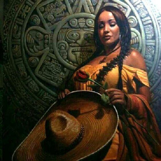 female aztec warrior aztec warrior art wall