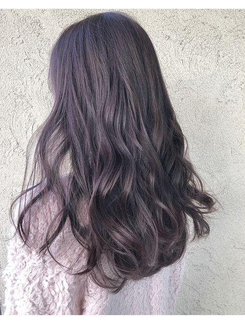 ピンクパープルカラー L024959188 バル ヘアーギャラリー1 飾磨店 Bal Hair Galllery 1 のヘアカタログ ホットペッパービューティー 紫 ヘアカラー 髪色 暗め ヘアカラー 暗め