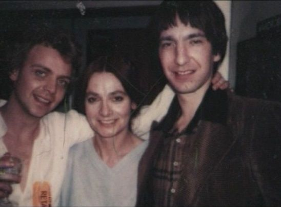 Jacqueline Hill with Romeo and Juliet (1978) co-stars Patrick Ryecart and Alan Rickman.: